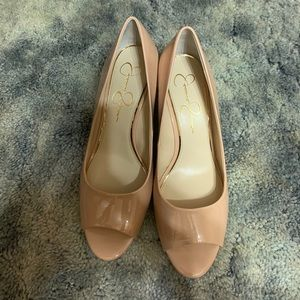 NEW Jessica Simpson nude wedges size 9.5